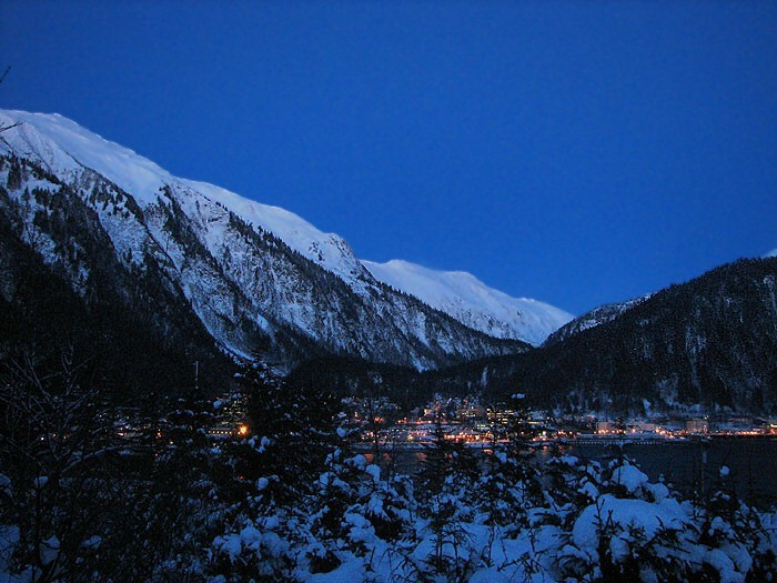 41 Minutes After Sunset: Juneau - Clear Sky - Snow.