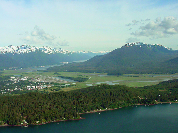 Above Auke Bay Looking Southeast.