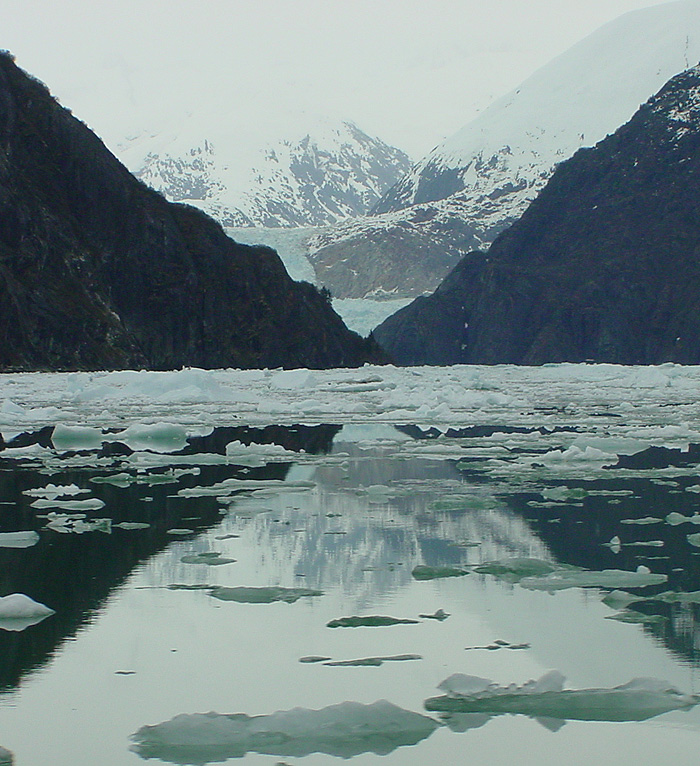 A Glimpse of South Sawyer Glacier - Tracy Arm Fjord.