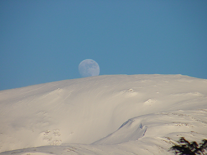Moon Over Gold Ridge of Mt. Roberts.
