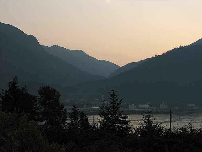 A Smoky Dawn in Juneau.