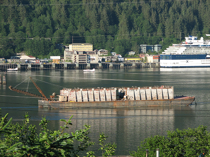 Float Planes, Cruise Ship (Celebrity Summit), Bulk Materials Barge.