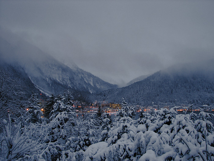 After a Snowfall - Juneau 25 Minutes before Sunrise.