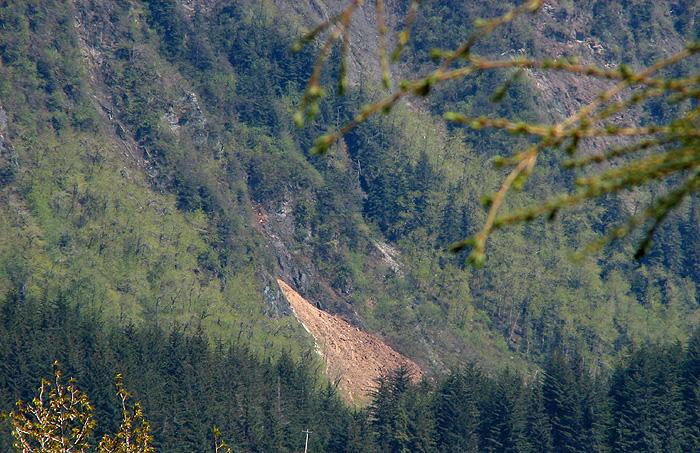 Destination of the Slide on Mt. Juneau.