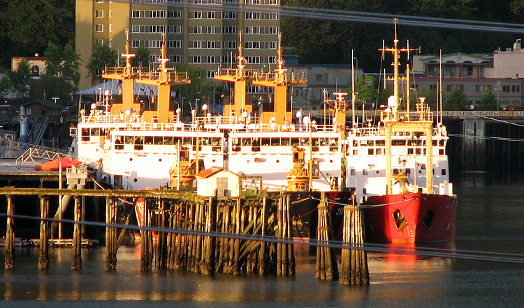 Buoy Tenders in the Evening Sun.