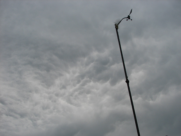 Gray Clouds and the West Juneau Weather Station Mast and Wind Instruments.