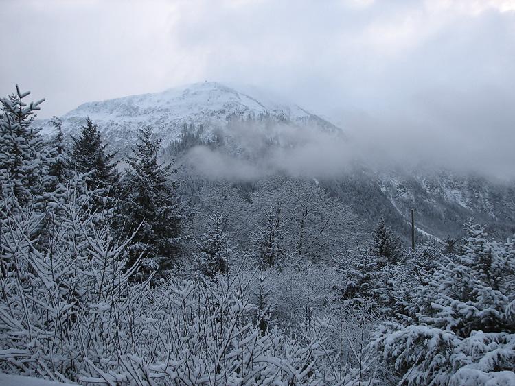 Mt. Juneau from West Juneau after a Snowfall.