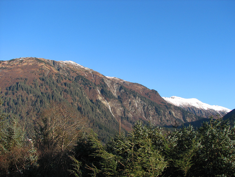 Mt. Juneau and Mt. Juneau Ridge (far right).