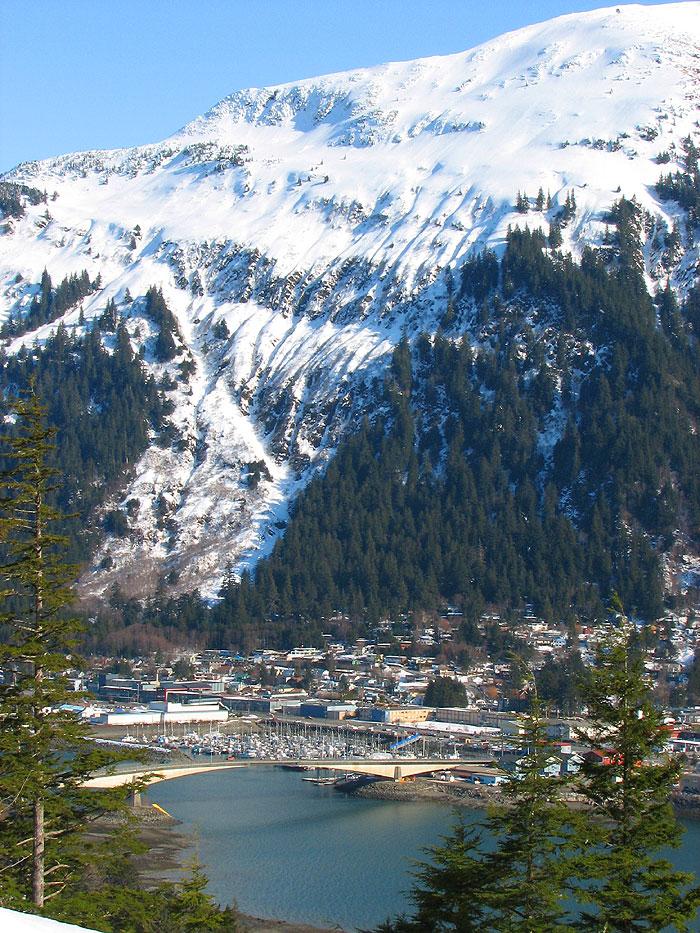 Mt. Juneau Towering Above the Northwest End of Town.