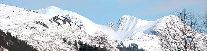 Mt. Roberts, Hawthorne Peak, Middle Peak, and West Peak.
