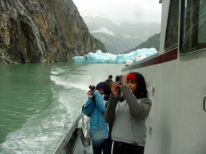Two Photographers in Tracy Arm Fjord.