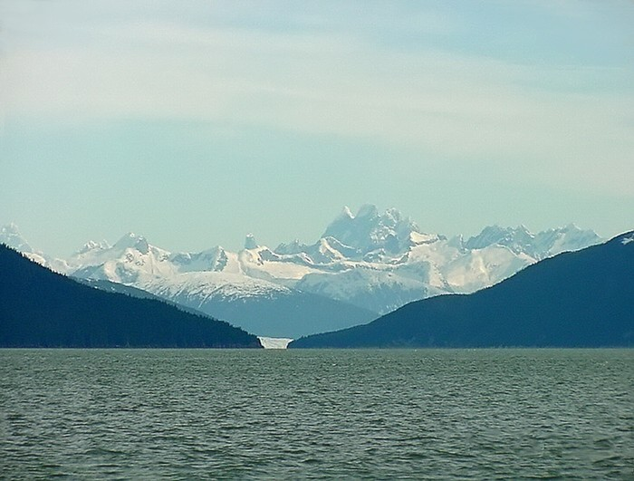 Devil's Paw and Taku Inlet.