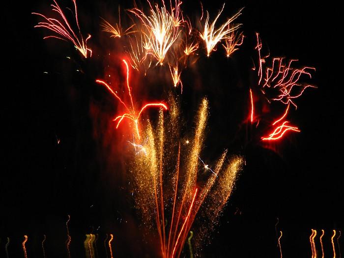 Independence Day Fireworks over the Juneau Harbor.