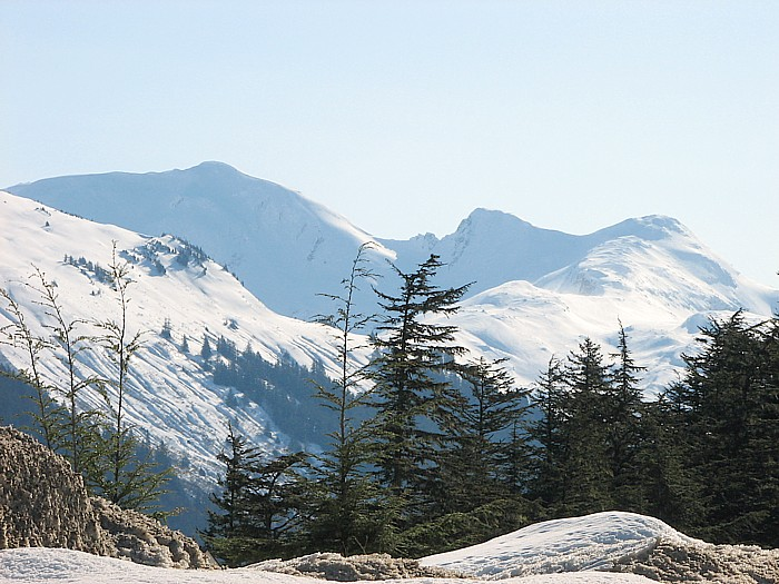 Hawthorne Peak, Middle Peak, and West Peak.