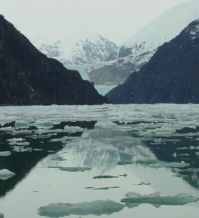 A Glimpse of South Sawyer Glacier - Tracy Arm Fjord.